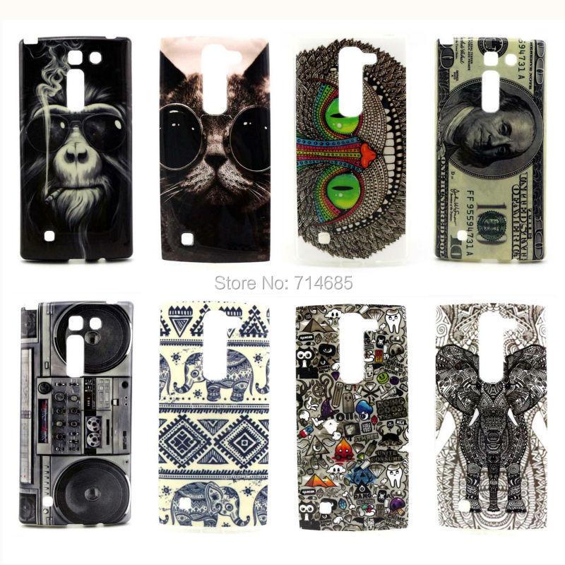 Full Black Cool Design Phone Case for LG Spirit 4G LTE H440N H440Y & for LG Spirit C70 H420 Cover Rilakkuma Owl Cat Moon Smile(China (Mainland))