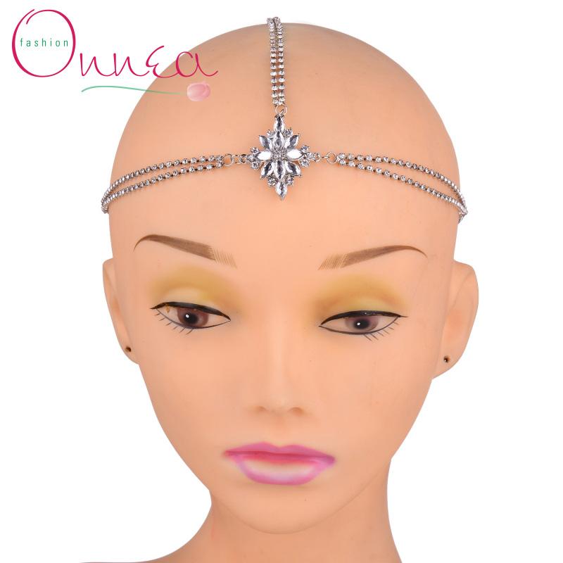 Sliver Tone Teardrop Crystal Hairband Hair Accessories Crown Hair Jewelry Headband Styling Tools Head Chain Head Jewelry(China (Mainland))