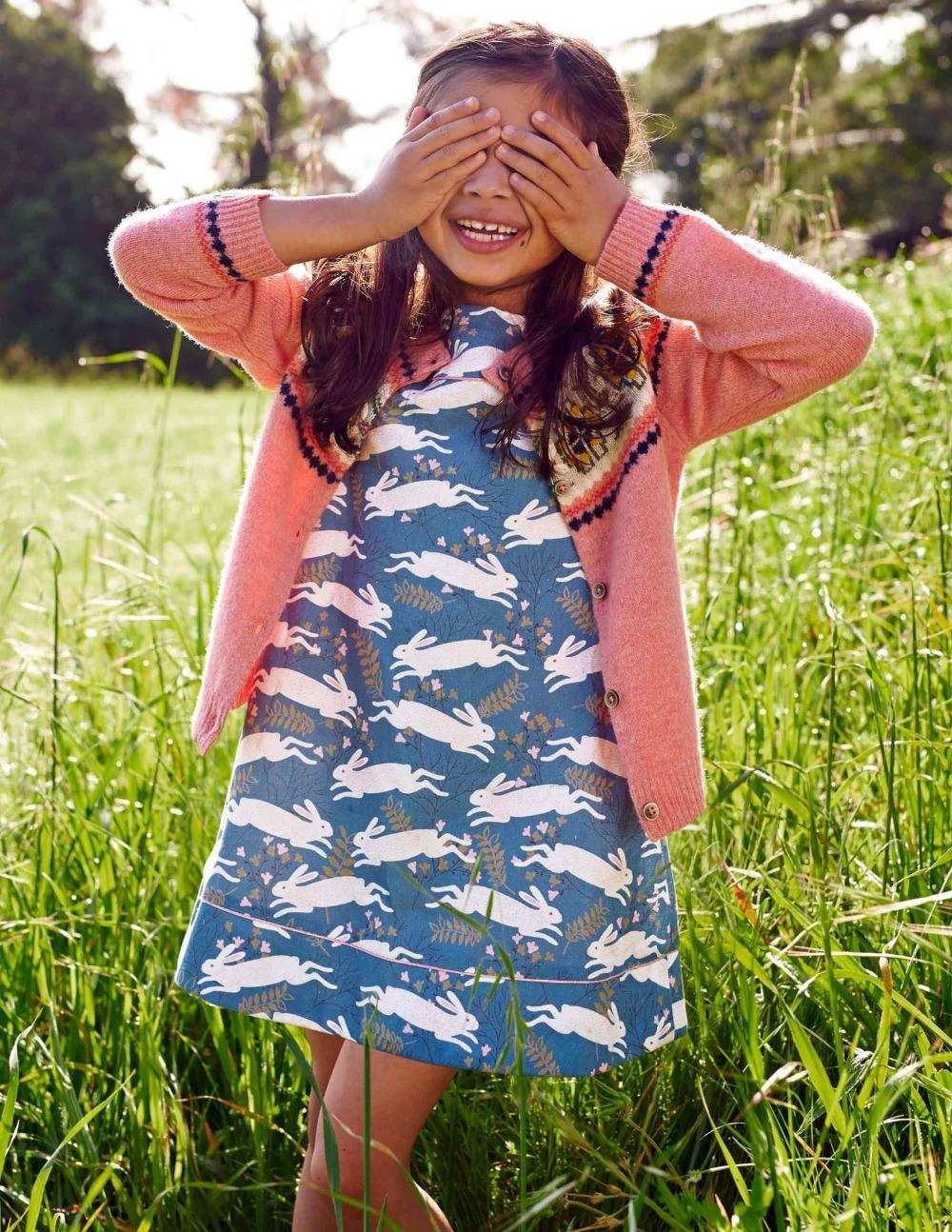 Girls dress baby  rabbit printing short sleeve dress wholesale 2015 new Children dresses clothing<br><br>Aliexpress