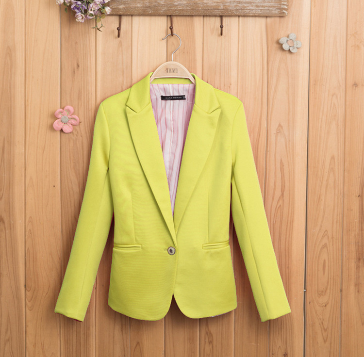Женщина тонкий сплошной цвет женщин пиджак