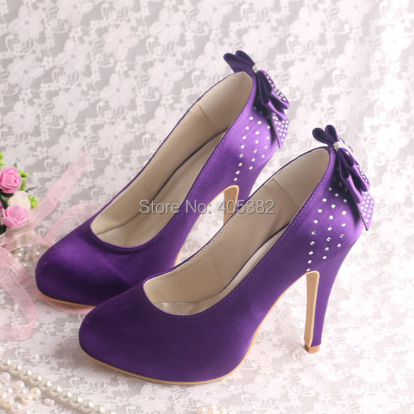 High Quality Purple High Heel Wedding Shoes-Buy Cheap Purple High ...