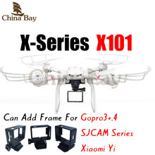 Professional Drone MJX X101 Quadcopter 2.4G 6-Axis One Key Return RC Helicopter Can Carry Gopro Xiaoyi SJCAM Action Camera(China (Mainland))