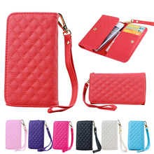 Universal PU Leather Wallet Cell Phone Bag Cases For iPhone 5 5S 5C SE Pouch Cover Case Card Holder Purses Handbag Black Pink(China (Mainland))