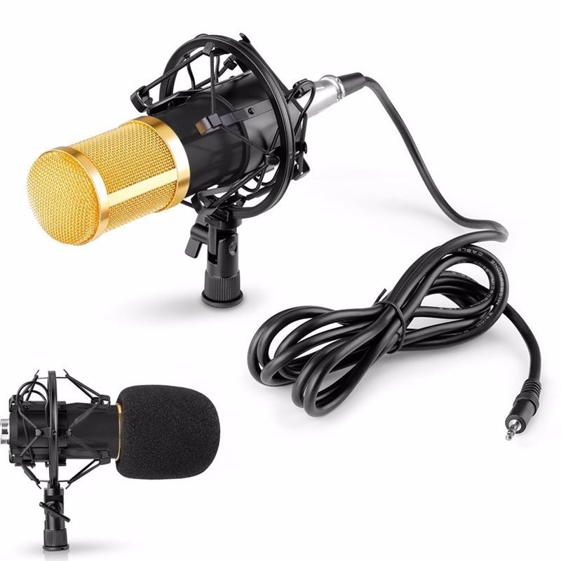 ถูก สตูดิโอมืออาชีพกระจายเสียงBM-800คอนเดนเซอร์เสียงสตูดิโอบันทึกเสียงกระจายเสียงไมโครโฟน+ช็อกเมาH Olderสีดำ