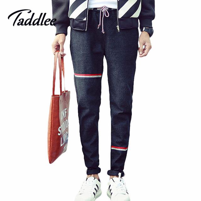 Taddlee Бренд 2016 Мужские Узкие длинные джинсы мужчины тонкие эластичные джинсы ...