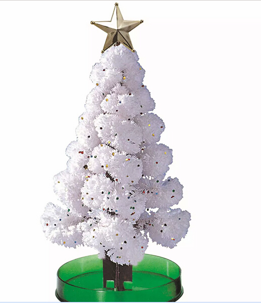 Free Shipping 2016 Promotion Magic Growing Paper Interactive Christmas Tree Arbre Magique Arbol Magico Kids Toys For Children(China (Mainland))