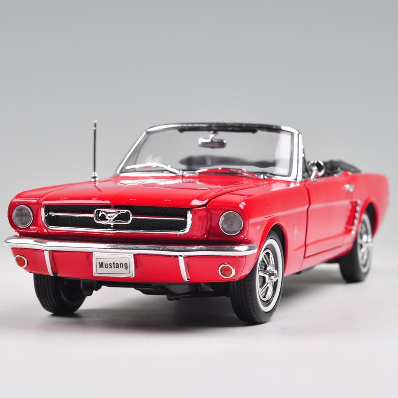 Brand New 1/18 Scale WELLY Car Model Toys 1964 Ford Mustang Convertible Diecast Metal Car Model Toy For Collection/Gift/Kids(China (Mainland))