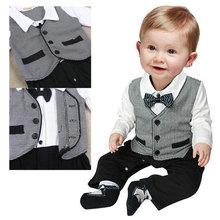 Kids Baby Cotton Gentleman Romper Jumpsuit Bodysuit Boy Clothes Outfit 1 3M Cute