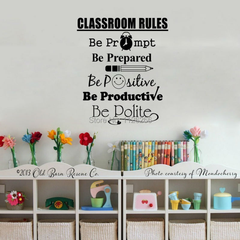Teacher Classroom Wall Decor ~ Aliexpress buy student quotes wall decals classroom
