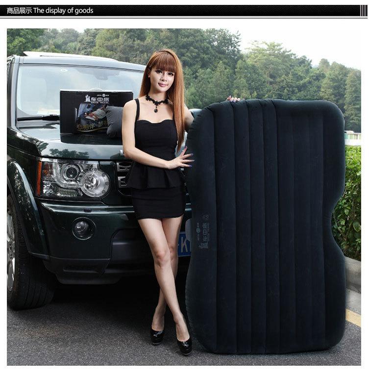 High quality PVC Air Mattress Inflatable mattress Car travel Bed Comfortable Car Thickening Bed with Car air Pump&pillow camping(China (Mainland))