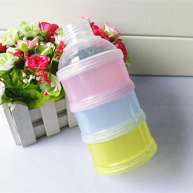 1 шт. портативный хранения детского питания сухое молоко контейнер три молоко коробка ...