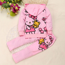 Hello kitty baby girl clothing set sports suit set children Christmas outfits girls tracksuit clothes T-shirt& pant