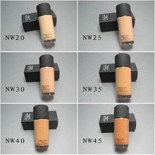 1 pcs Hot Sale Flawless Soft Matte 12 Colors Liquid Foundation 30ML MC Brand Makeup Studio Fix Fluid SPF15 Liquid Foundation()