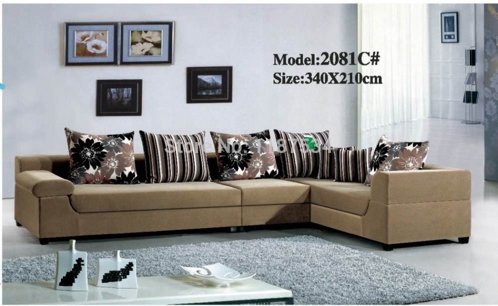 2081c High Quality Factory Price Home Furniture Living Room Sofa Sets Fabric Corner Sofa Set In