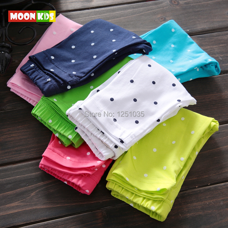summer female child infant capris skinny pants baby girl summer dot casual cropped trousers baby thin cropped trousers open file(China (Mainland))