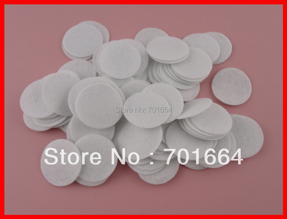 Bargain for Bulk 4.0cm white round felt pads for flower and brooches  back,black round felt spacers<br><br>Aliexpress
