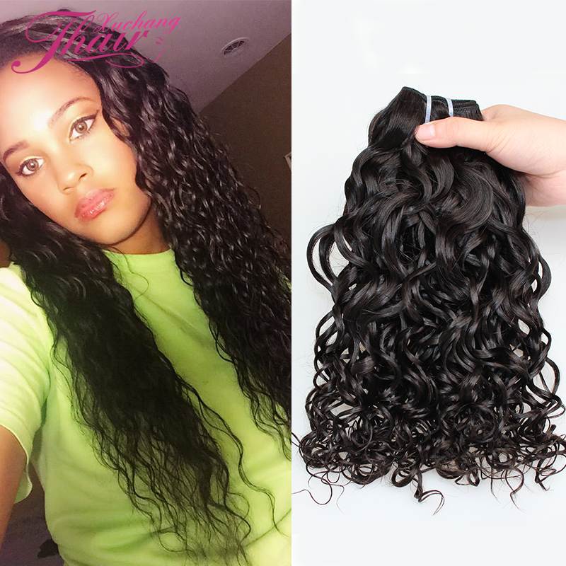 Brazilian Virgin Hair Water Wave 4pcs Natural Wave Human Hair Weave Bundles Wet And Wavy Virgin Brazilian Curly Extensions Curls