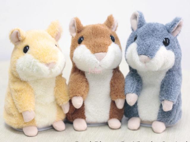 Free Shipping Lovely Talking Hamster Plush Toy Hot Cute Speak Talking Sound Record Hamster Toy Animal 20pcs/lot(China (Mainland))