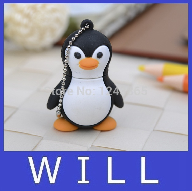 lovely penguin animals cartoon theme of creative U Disk full 8GB 16GB 32GB 64GB usb flash drive memory stick pen drive pendrive(China (Mainland))
