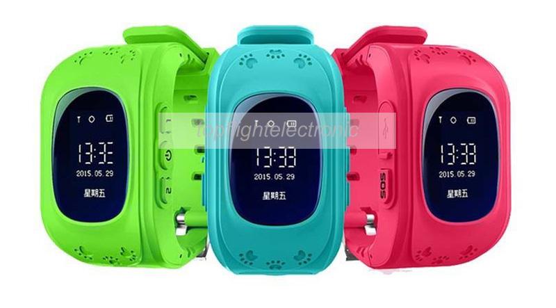 Q50 Smart Kid GPS Watch Phone Wristwatch Google Map Location Finder SOS Tracker Anti Lost Monitor Baby Gift Smartwatch(China (Mainland))
