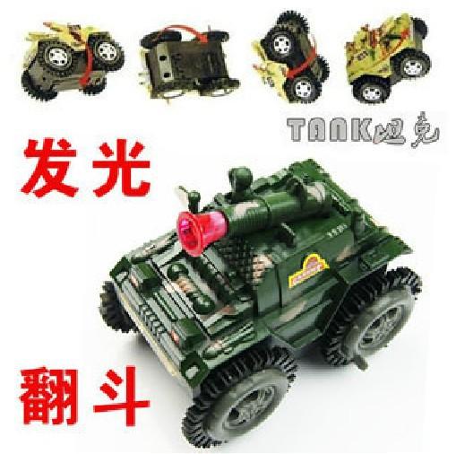 Electric tank dump trucks with gun speed electric toy car lights car toys 1pcs free shipping(China (Mainland))