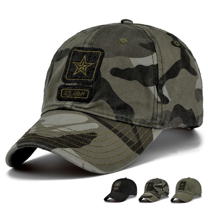 New Men Pentagram Cap Top Quality Military Caps Military Hunting Fishing Hat Outdoor Camo Baseball Hats Adjustable(China (Mainland))
