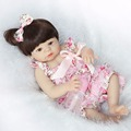 2017 New 22 Handmade Lifelike Reborn Baby Doll Girls Full Body Vinyl Silicone with Pacifier