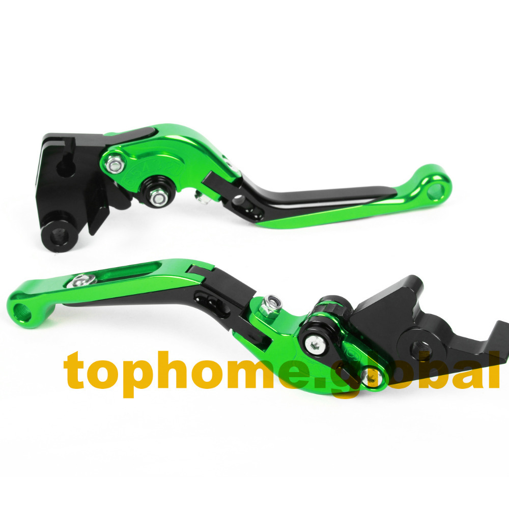 Motorbike Accessories CNC Foldable&Extendable Brake Clutch Levers For Kawasaki ZZR1200 2002-2005 2003 2004(China (Mainland))