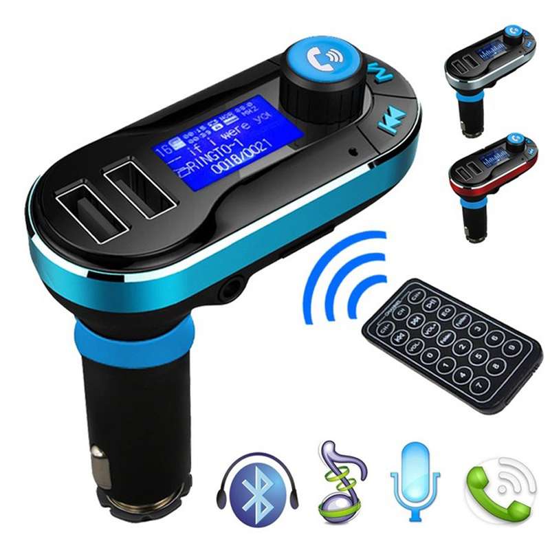 BT66 Bluetooth Car Kit Audio MP3 Player Handsfree FM Transmitter SD LCD Dual USB Charger For iPhone for Samsung LG Smartphone(China (Mainland))