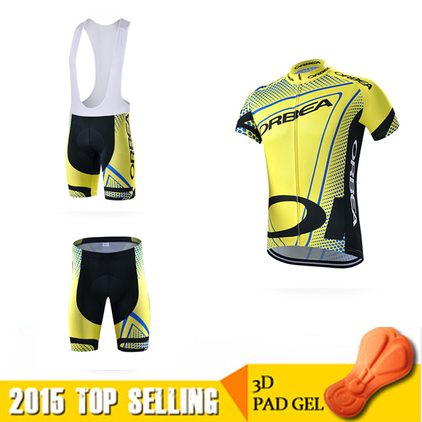cycling Jersey orbea 2015 yellow mtb bicycle ropa ciclismo orbea bicicleta mountain bike maillot clothing bibs short set(China (Mainland))