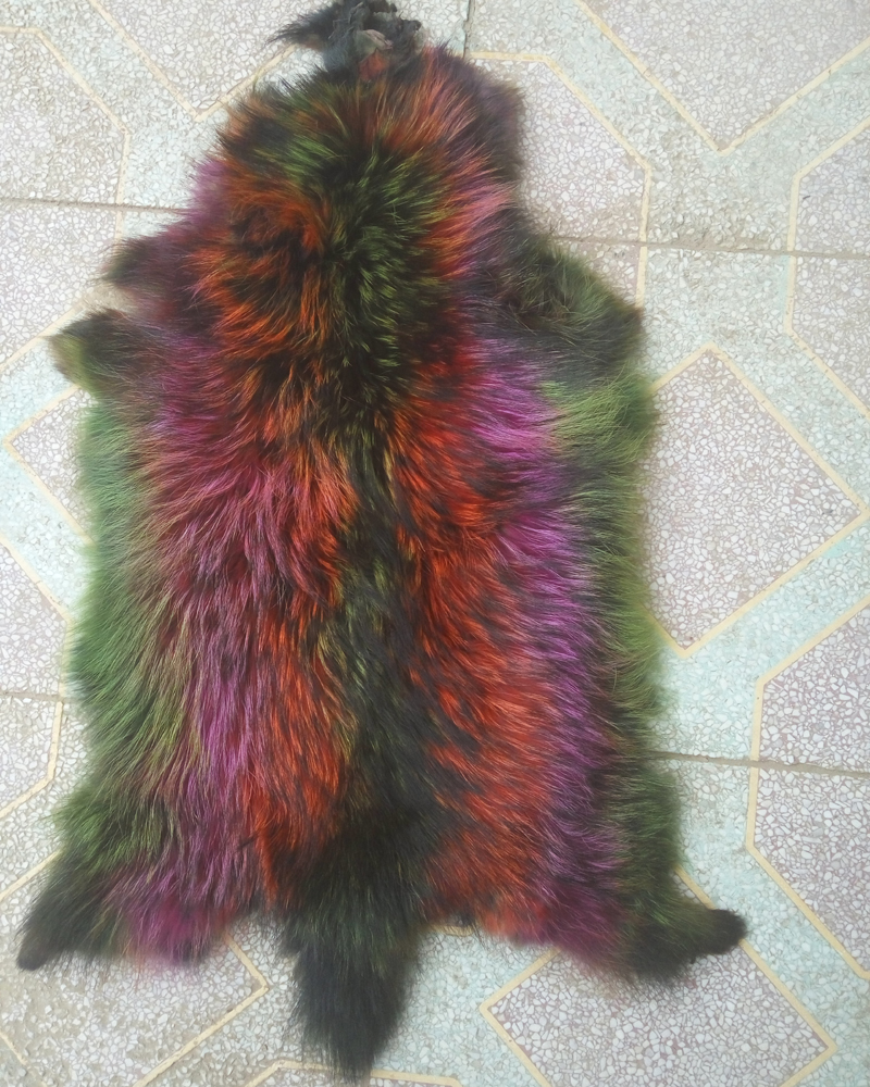 Natural intriguing color Raccoon Skin Fur Pelt Pelts Multicolor Craft Accessory Leather(China (Mainland))