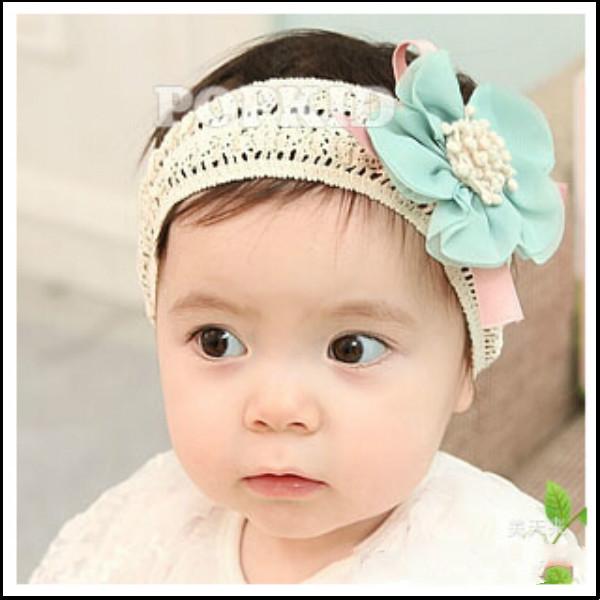 2015 Fashion Design Baby Girls Kids Infants Children Newborn Big Flower Headband Headwear Hair Accessories(China (Mainland))