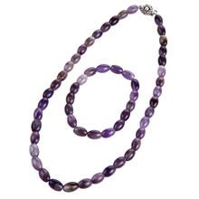 platinum new high quality hot sale fashion retrostyle jewelry sets for women with Purple beads necklace&bracelet wedding jewelry(China (Mainland))
