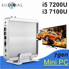 Eglobal 7th Gen Intel Core i5 7200U i3 7100U i7 7500U in minipc Kaby Lake Win10 Mini PC Max3.1GHz Nuc HTPC Intel HD Graphics620 (China (Mainland))