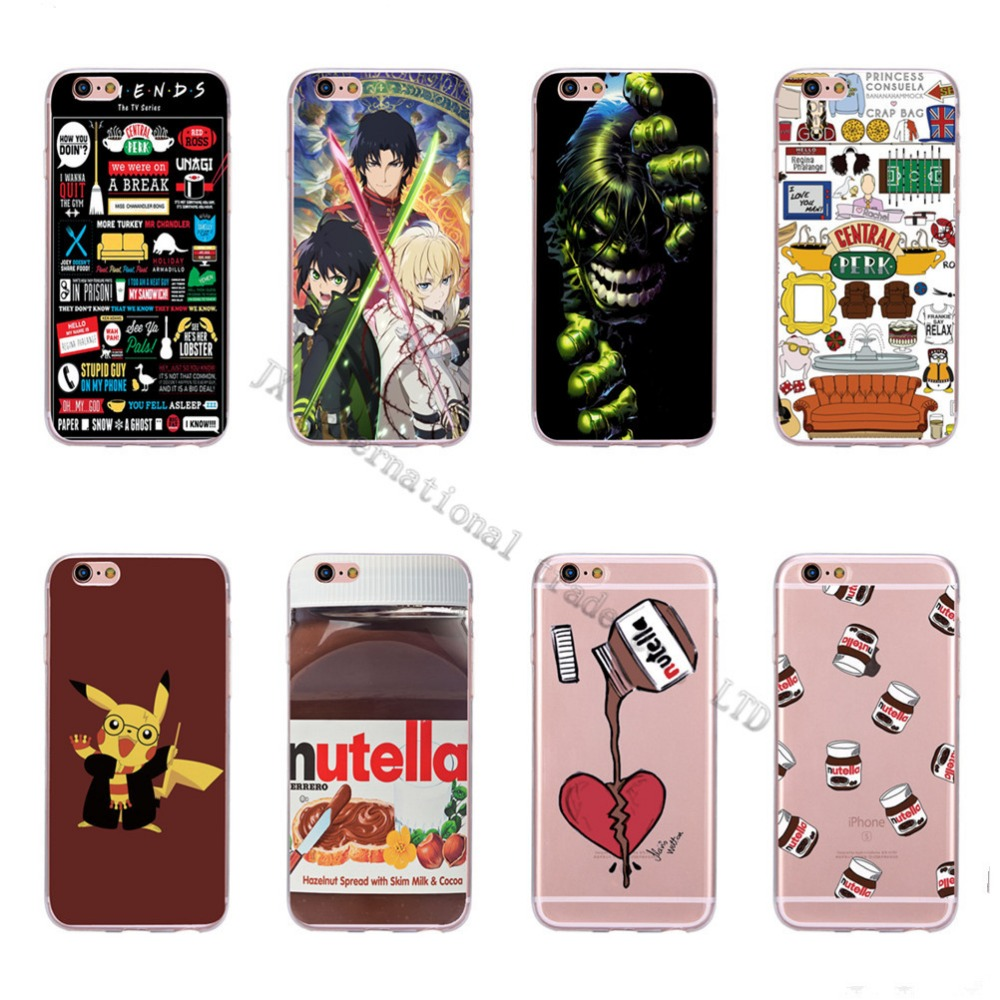 Cute Tumblr Nutella Friends Design Transparente Silicone Case Cover For iPhone 5 5s 6 6s Cell Phone Cases(China (Mainland))