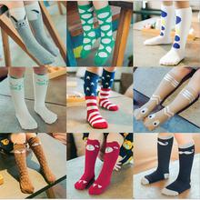 100% Cotton socks For Girls Kids Knee High Socks Baby Girls socks Fall Winter Leg Warmers For Children kids Chaussette CDZBF128(China (Mainland))