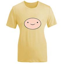 Tempo de aventura Finn The Ice Rei Chama Princesa BMO Projeto Womens Senhoras Manga Curta camisa Impressão T Gráfico Camiseta tshirts(China)
