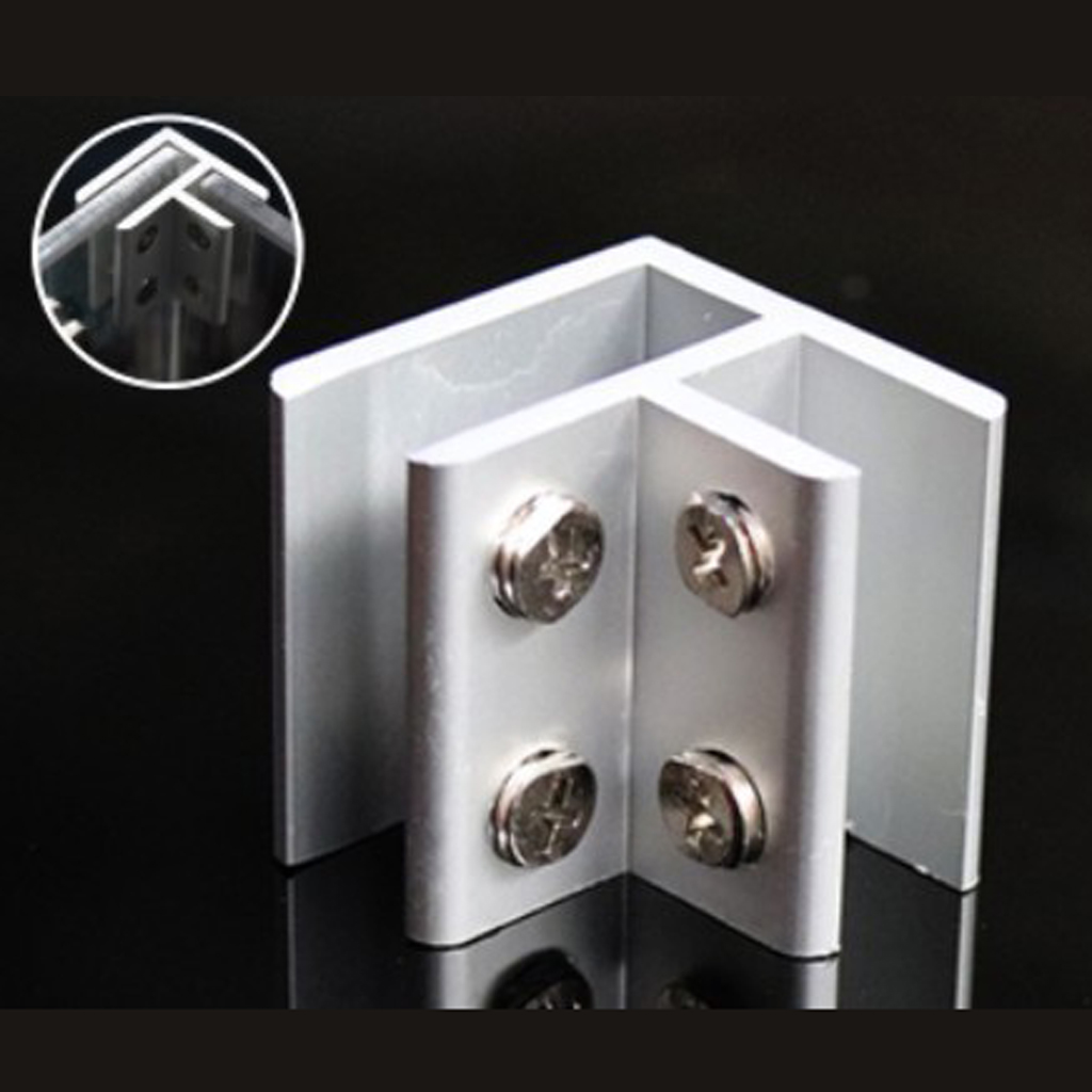 2pcs NO Dril Glass Angle Clamp Handrail Balustrade Bracket fit 8-12mm Glass