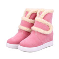 Women s Fashion Fleece Warm Boots Casual Mid Calf Long Snow Boots Winter Autumn Platform Suede
