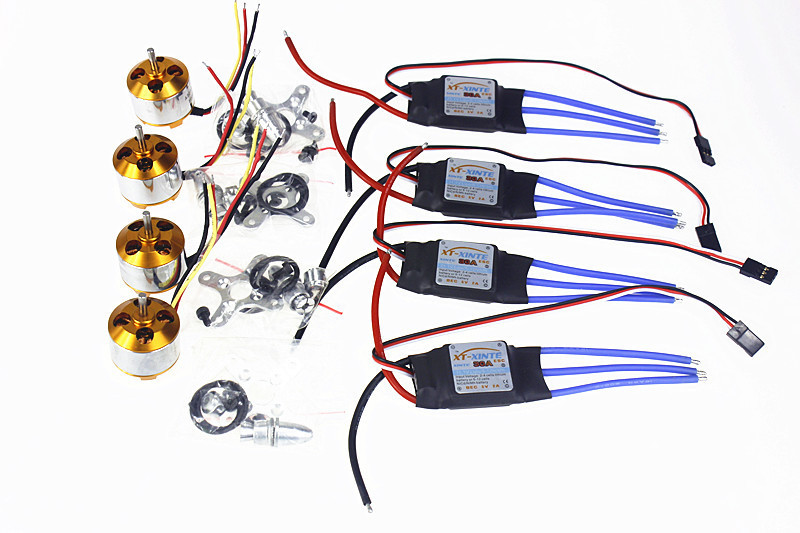 F02015-B 6Sets/lot A2212 1000KV Brushless Outrunner Motor + 30A Speed Controller ESC RC Aircraft 4 Axis Quadcopter UFO - JMTTOP store