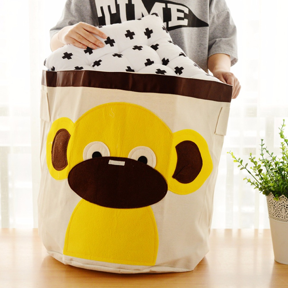 41*45CM Portable Cartoon Animal Design Home Clothes Childen Toys Storage Box Pouch Bag for Waterproof/Dustproof(China (Mainland))