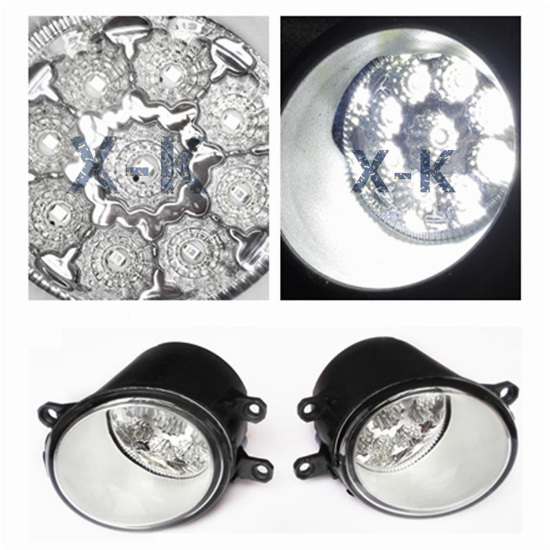 For TOYOTA AVENSIS Hatchback T25 2003-2008 Car-Styling Led Light-Emitting Diodes DRL Fog Lamps(China (Mainland))
