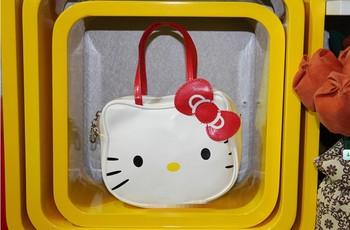 Hot sale Hello Kitty bags shopping bag handbag small bag purse 1PC white free ship 820003J