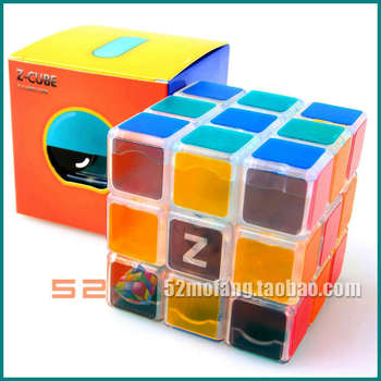 Free shipping of Transparent magic cube 3x3 pure transparent generation crystal magic cube