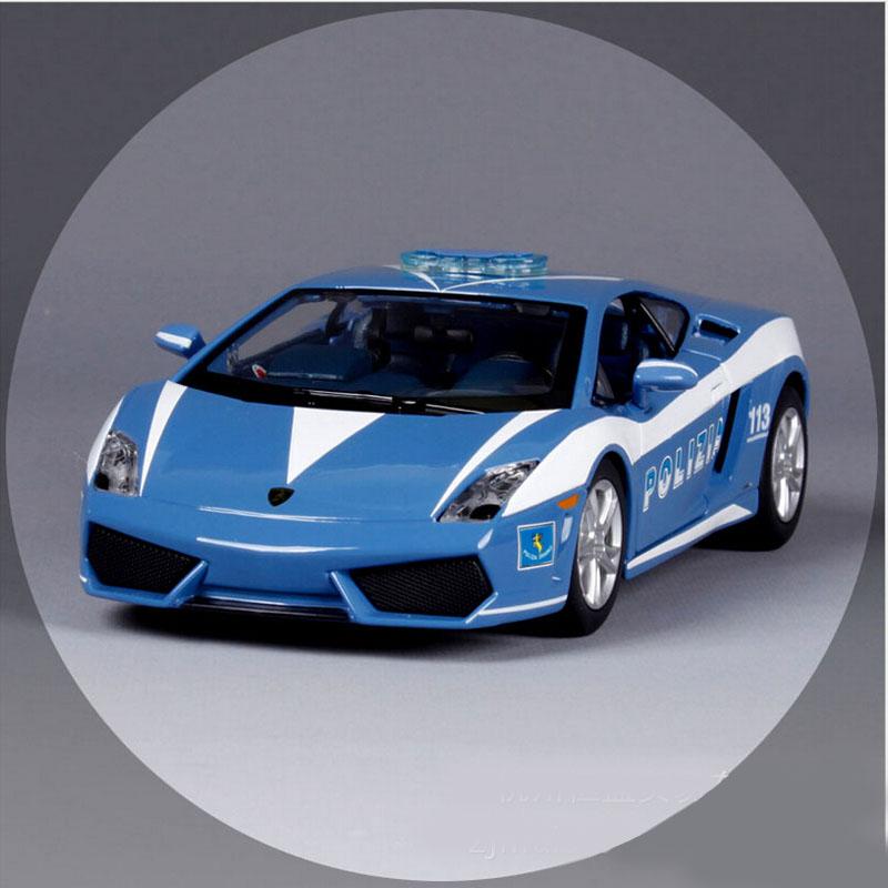 1:24 Scale brand masito children Gallardo LP560 metal diecast race police cars vehicle gift model sport auto motor toys children(China (Mainland))