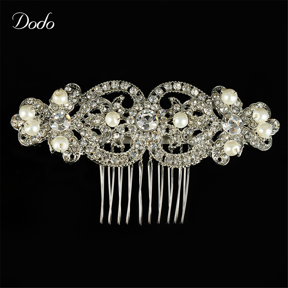 Elegant Vintage Austrian Crystal Imitation Pearl Hairwear Jewellery Wedding Bridal Hair Combs accessories Exquisite Jewelry A22(China (Mainland))