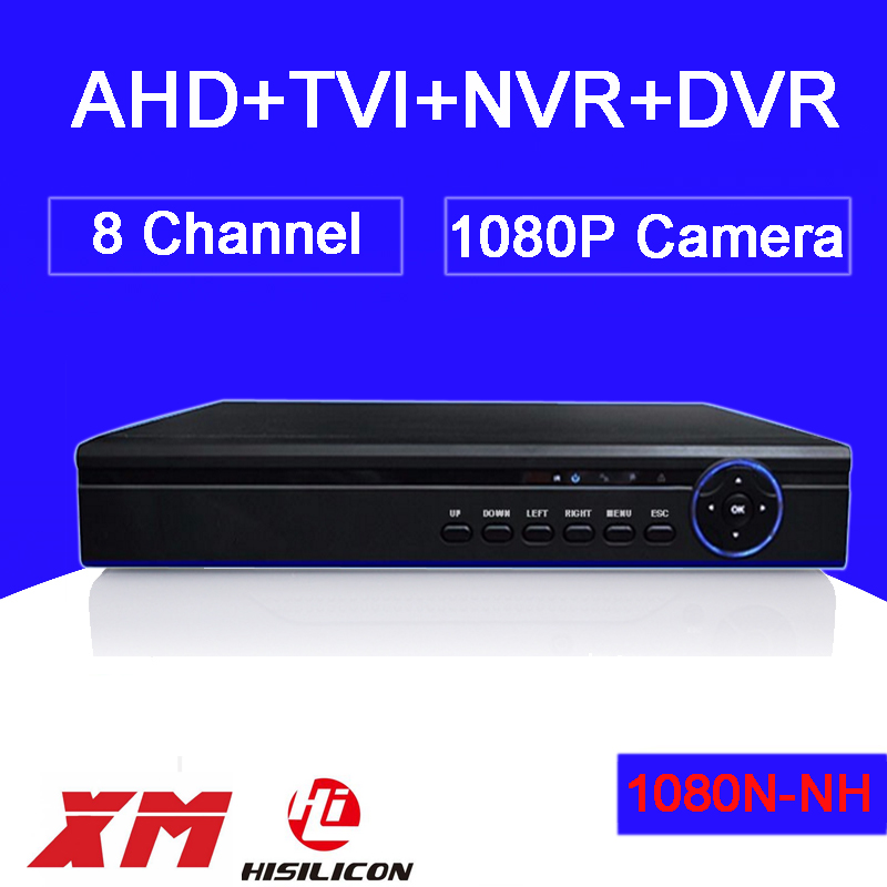 Фотография Hisiclion Sensor Bule-Ray Exterior DVR 8 Channel Three in One 1080P/1080N/ 960P/720P/960H Coaxial TVI AHD DVR NVR Free Shipping