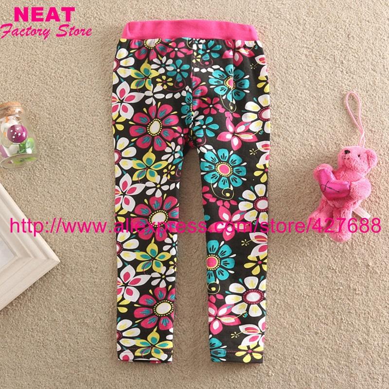 2015 new neat brand kids pants baby girls long trousers cartoon legging children clothing wear nova lace flower F5508(China (Mainland))