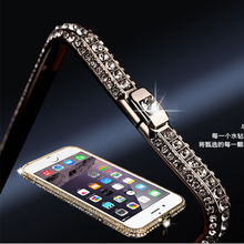 Buy iPhone 5 5s SE 6 6s 7 Plus New style metal rhinestone bumper bling Crown luxury diamond clear crystal back cover Alabasta for $6.56 in AliExpress store