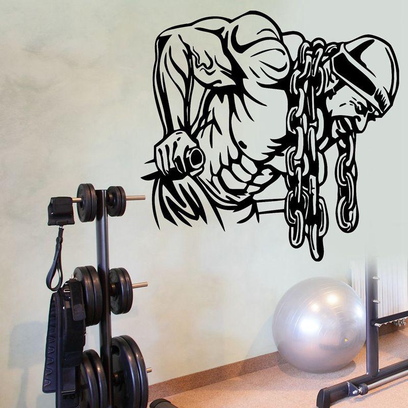 gym name sticker ironmen fitness iron chain crossfit